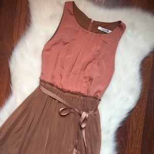 Forever 21 blush belted dress